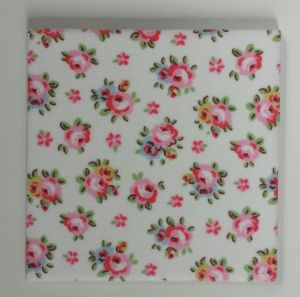 Ceramic Wall Tiles Made With Cath Kidston Hampton Rose